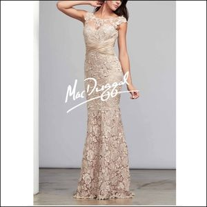 Mac Duggal Couture Laced Evening Gown